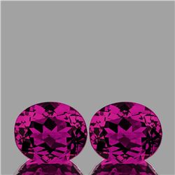 Natural AAA Magenta Purple Rhodolite Garnet Pair