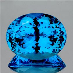Natural Magnificent Swiss Blue Topaz 35.20 Ct -Flawless