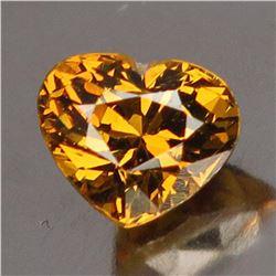 Natural Golden Mali Garnet Heart 1.22 Cts - VVS