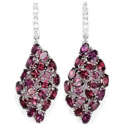 NATURAL PURPLISH PINK RHODOLITE GARNET Earrings