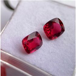 Natural Rare Jedi Burma Vivid Red Spinel Pair Certified