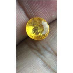 Natural Vivid Yellow Sapphire 4.24 Carats