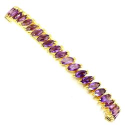 Natural Marquise 6x3mm Purple Amethyst Bracelet