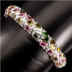 Natural Top Fancy Colors Tourmaline Bangle