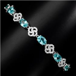 Natural Top Neon Blue Apatite Bracelet