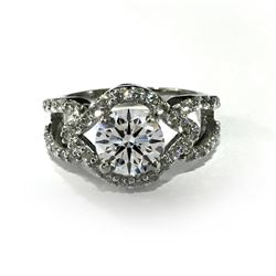 SPARKLING 2.5 CT CENTER STONE DIAMOND RING