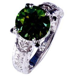 SPARKLING 3.3 CT EMERALD GREEN DIAMOND