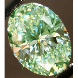 SPARKLING 6.60 CT MINT GREEN DIAMOND