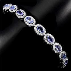 Natural Gorgeous Blue Violet Tanzanite Bracelet