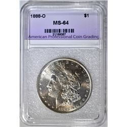 1888-O MORGAN DOLLAR, APCG CH/GEM BU