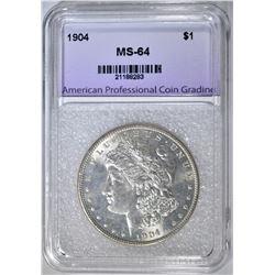 1904 MORGAN DOLLAR, APCG CH/GEM BU