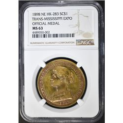 1898 TRANS-MISSISSIPPI EXPO HK-283 NGC MS-63