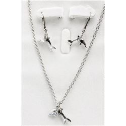 925 Silver Dolphin with Swarovski Elements Jewelle