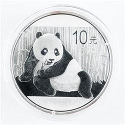 .9999 Fine Silver Panda Coin 10Y-2015