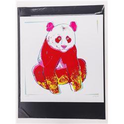 Andy Warhol Fine Art Print - 'The Giant Panda' 17x