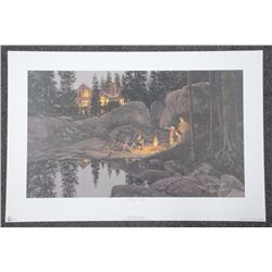 """Doug Laird LE Litho Signed 'Starry Night' 33x22"""""""