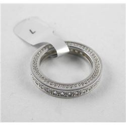 925 Silver Full Eternity Band, Bezel Set Swarovski