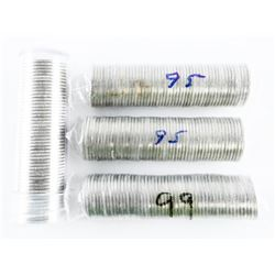Lot (4) Rolls/Tubes Canada 10 cents: 3x 1995 and 1