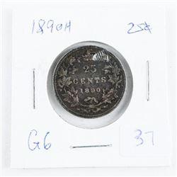 1890(H) Canada Silver 25 Cent (OI)