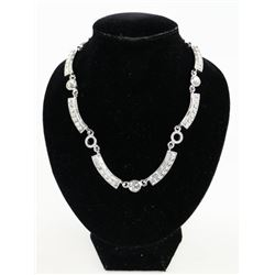 Ladies MMCrystal Necklace with Black Gold Plating.