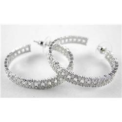 925 Silver Hoop Earrings Set with Swarovski Elemen