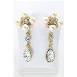 Ladies MMCrystal Atelier Earrings with White Gold