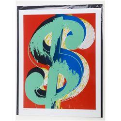 "ANDY WARHOL Fine Art Print - 'Dollar Sign' 18x24"""