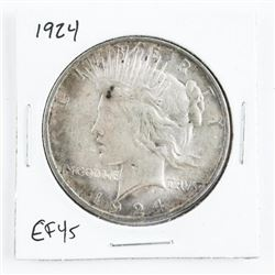 1924 US Peace Dollar EF45