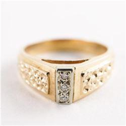 Estate Ladies 10kt Gold 3 Diamond Ring 4.46gr Size