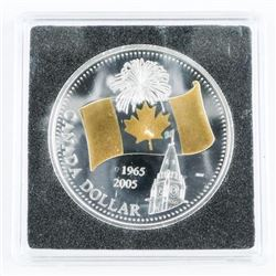 1965-2005 925 Silver Dollar with 24kt Gold Overlay