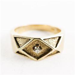 Estate 10kt Gold Diamond Ring Size 9.5. 7.91gr