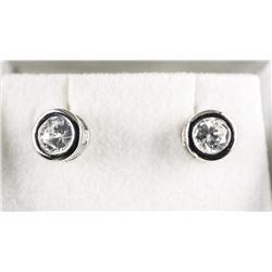 925 Silver Channel Set Earrings