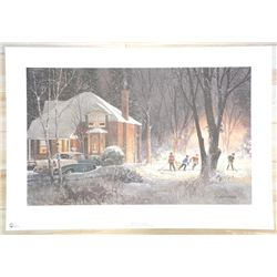 """Doug Laird - LE Litho 'The Games On' Signed 23x34"""" Unframed."""
