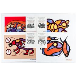 """Norval Morrisseau (1931-2007) 'A Shaman's Vision' (F1) 4 Images 11x14"""" with C.O.A."""