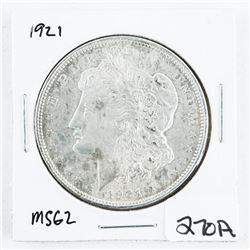 1921 USA Silver Morgan Dollar MS62. (CR)