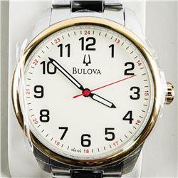 BULOVA - Gents 2 Tone Watch with Date. MSR $240.00