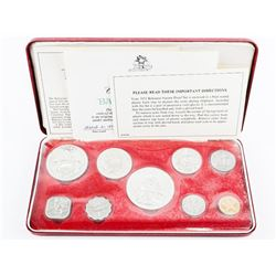 Bahamas 9 Coin Proof Set with Silver 1975 (SSR)