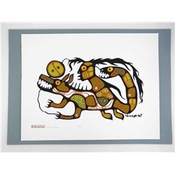 Norval Morrisseau (1931-2007) The Early Works 'Dream Legend' #7/7 Rare Low Issue Original Folio Case