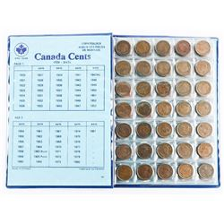 Canada Cent Collection Blue Book