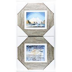 1 Pair - Lawren Harris Studio/Litho Panels. Gallery Framed. 15x15