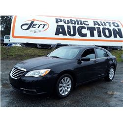 B5 --  2014 CHRYSLER 200 TOURING , Black , 134377  KM's
