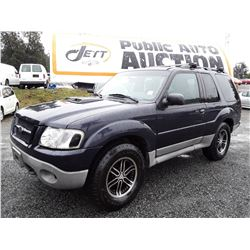 A7 --  2001 FORD EXPLORER SPORT , Blue , 268924  KM's
