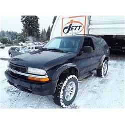 A9 --  2000 CHEVROLET BLAZER  , Black , 232092  KM's