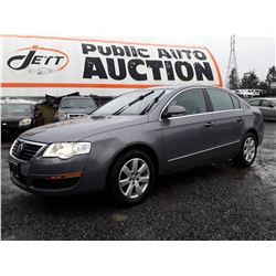 D1 --  2007 VW PASSAT LUXURY, GREY, 149,743 KMS