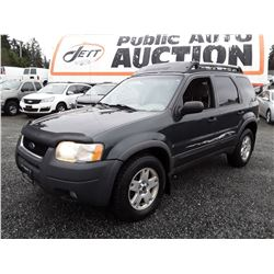 F3 --  2003 FORD ESCAPE XLT , Green , 249736  KM's