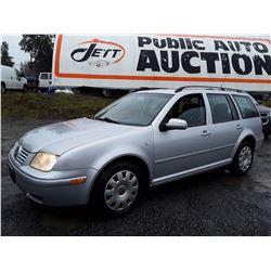 L5 --  2003 VW JETTA gls , Silver , 322101  KM's