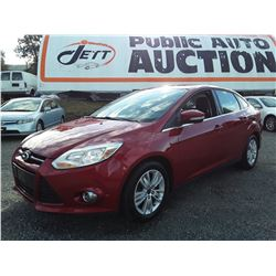 B3 --  2012 FORD FOCUS SEL , Red , 131247  KM's