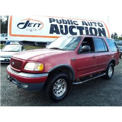 M1 --  2001 FORD EXPEDITION XLT , Red , 301118  KM's