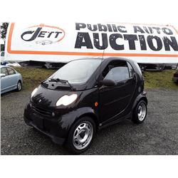 "A4 --  2006 SMART FORTWO , Black , 134043  KM's ""NO RESERVE"""