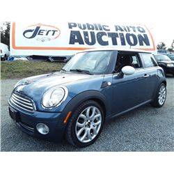 C6C --  2009 MINI COOPER , Blue , 118499  KM's
